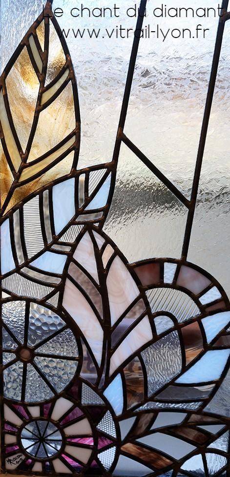 Vitrail art deco creation de marion rusconi a l atelier le chant du diamant lyon