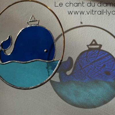 Baleine verre tiffany creation marion rusconi lyon 69