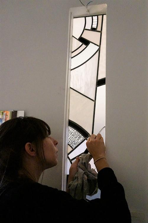 Pose de vitraux à domicile