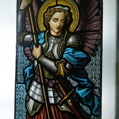 Vitrail peint resturation marion rusconi